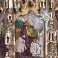 Atessa (Ch), tesoro della Cattedrale, ostensorio di Nicola da Guardiagrele, argento a sbalzo e smalto,