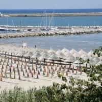 Ortona, la spiaggia del Lido dei Saraceni a sud del porto