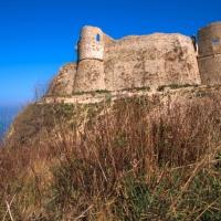 Ortona (Ch), il castello Aragonese durante i restauri,