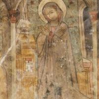 Rocca di Cambio (AQ), chiesa di Santa Lucia, affreschi della parete destra, Annunciazione