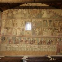 Rocca di Cambio (AQ), chiesa di Santa Lucia, interno, affreschi della parete di sinistra