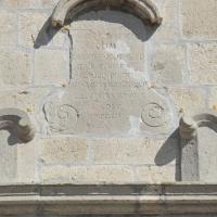San Giovanni Lipioni (Ch), chiesa di Santa Maria delle Grazie, iscrizione in facciata