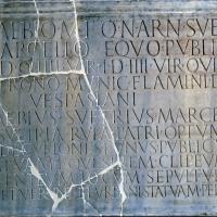 Vasto (Ch), il Museo Archeologico di Palazzo d'Avalos, lapide romana con iscrizione